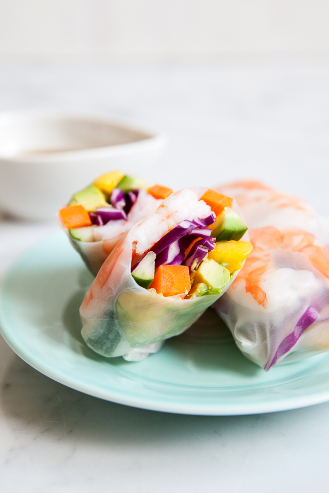 Mango Shrimp Summer Roll / #pfcsummer