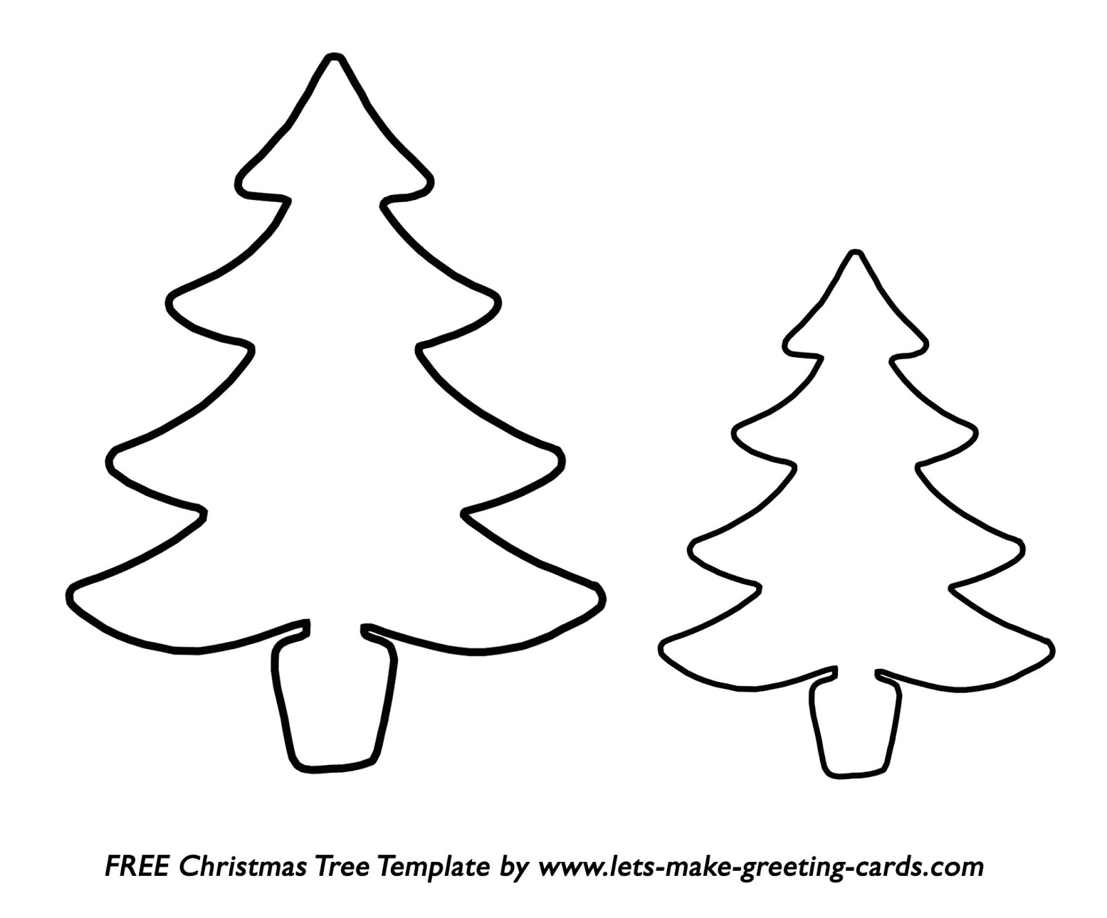 Vibrant image with christmas tree outline printable
