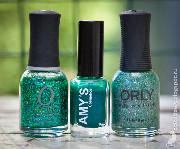 Amy's #37 + Orly Mermaid Tale + Orly Sparkling Garbage