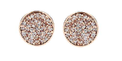 John Lewis Rose Tone Crystal pave studs jewellery every woman should own