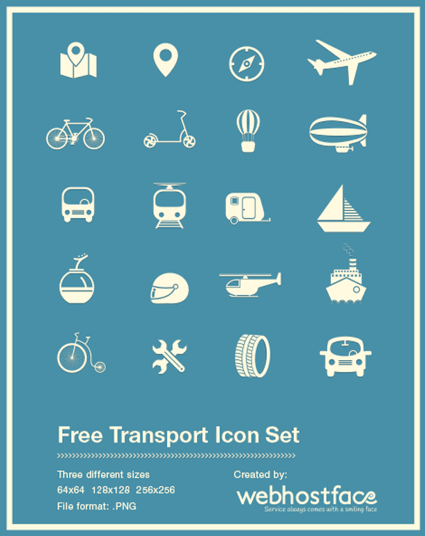 FREE Transport Icon Set