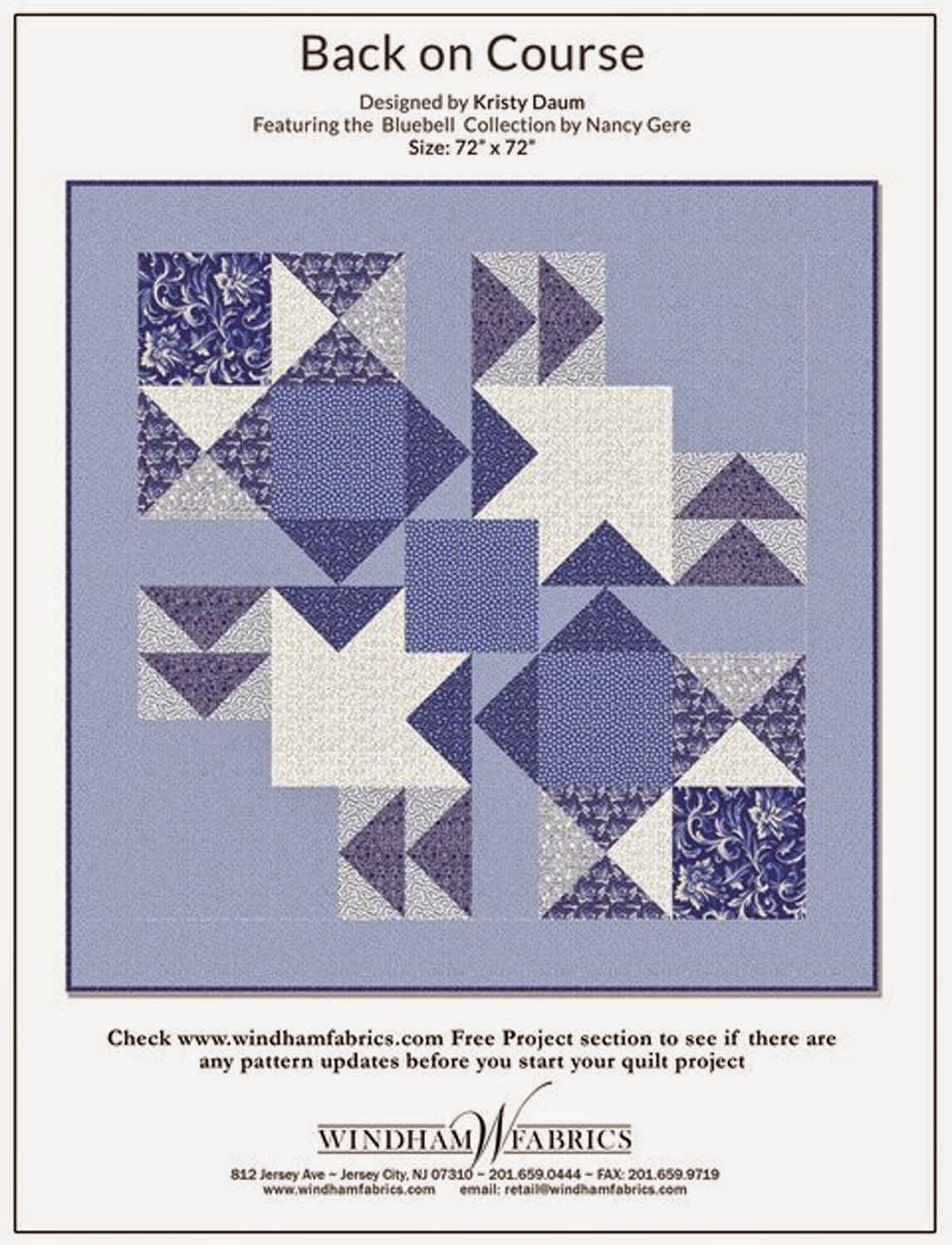 BACK ON COURSE Free Quilt Pattern