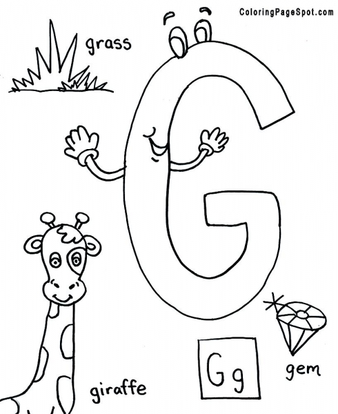 letter g coloring pages - photo#21