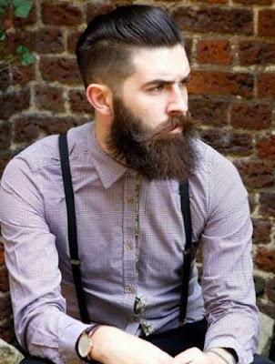 gaya rambut pompadour untuk pria berjenggot_3266987