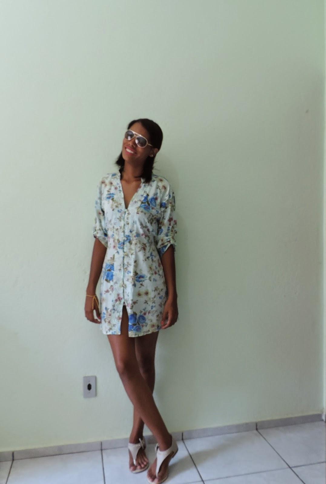 Look do Dia: Azul Floral