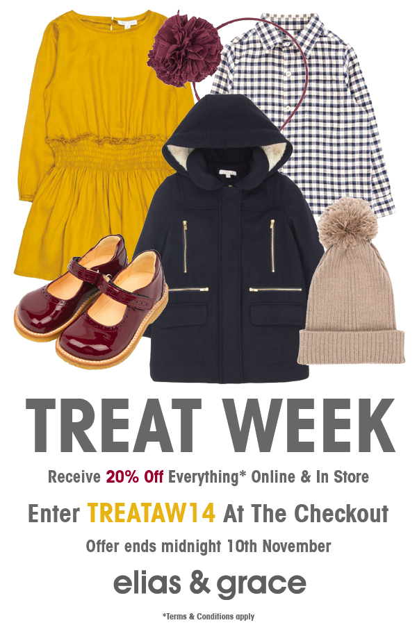 Elias & Grace Treat Week AW14