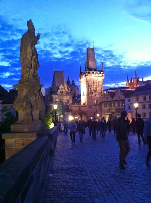 at night charles bridge
