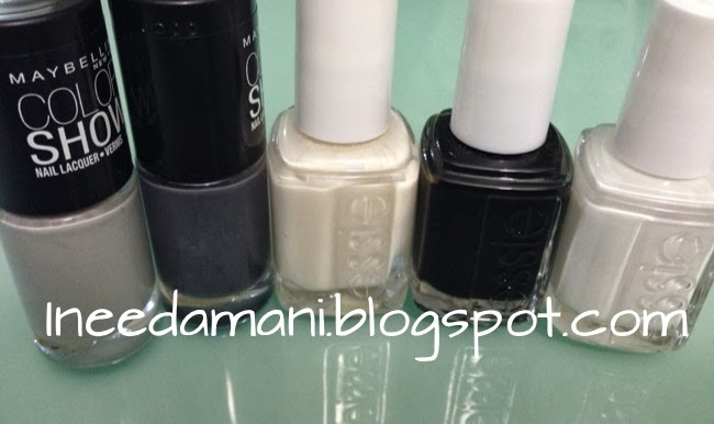 maybelline color show audacious asphalt impeccable greys essie marshmallow blanc licorice