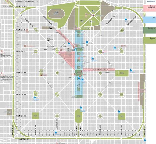 mapa turístico de La Plata