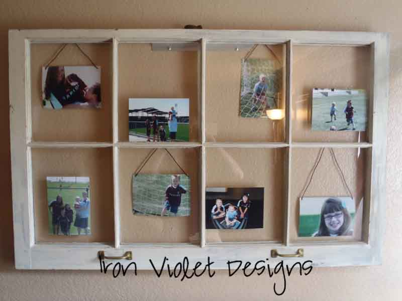 Iron Violet Designs: Old Window turned Picture Frame