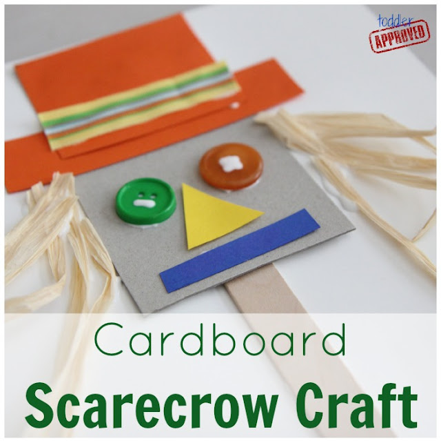 Cardboard Crafts For Toddlers Cardboard Scarecrow Craft
