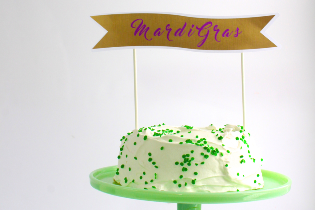 diy mardi gras cake toppers Cloudy Day Gray