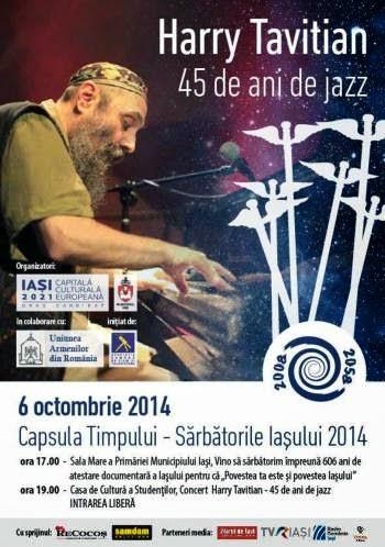 concert 6 octombrie Harry Tavitian la Casa Studentilor din Iasi