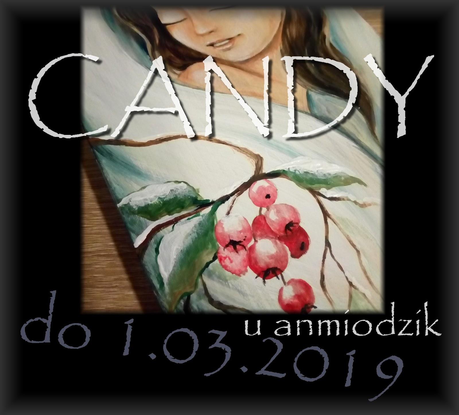 Zimowe candy z aniołem