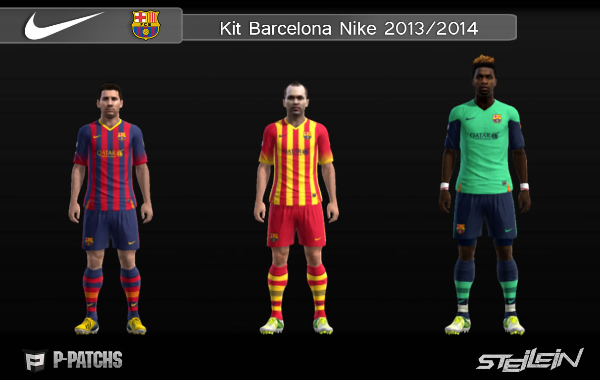 Download Kit Barcelona 2013 14 By Steilein PES 2013   Zippyshare