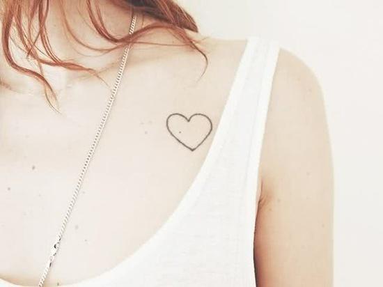tatouage romantique amour coeur