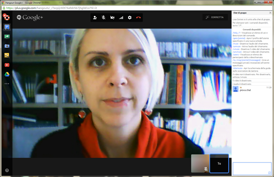 Come accedere a Google Hangouts - Lisa Cortesi