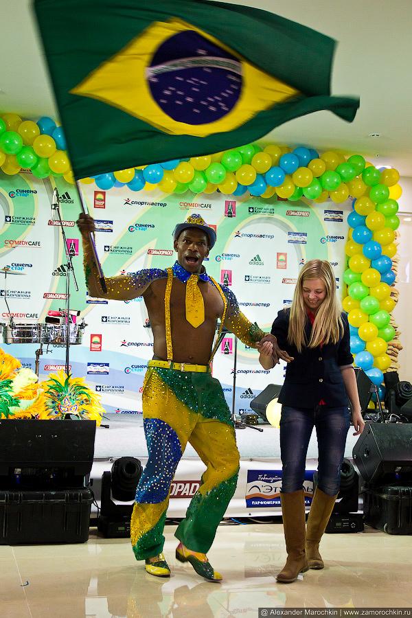 Карнавальное настроение с бразильским флагом