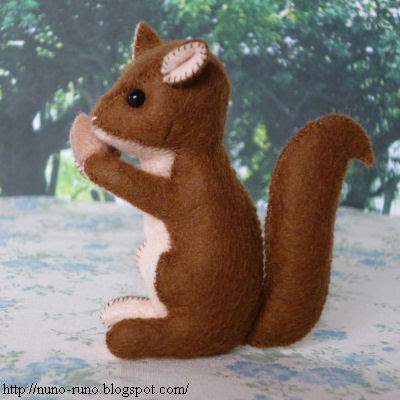 Squirrel of felt