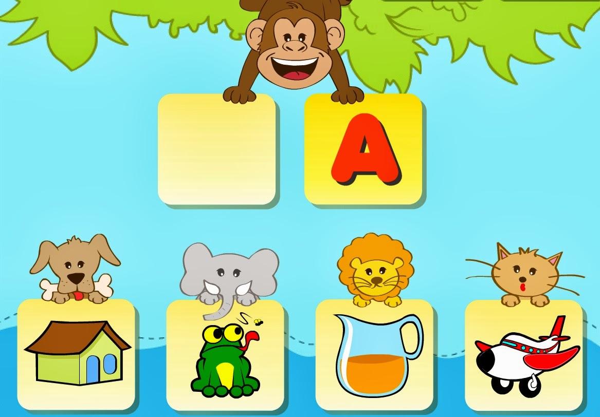 Treinando a inicial do alfabeto.