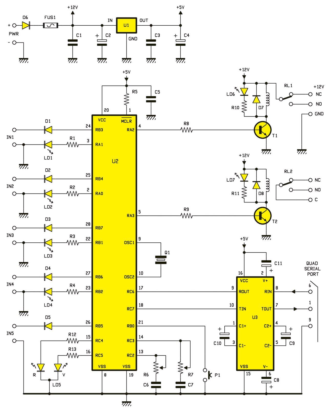 Un contr leur de diviseur vid o quad schema electronique net for Controleur de tension electrique