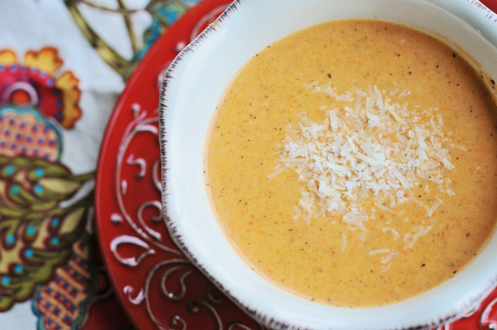 Barefoot and Baking: Tomato-Basil Parmesan Soup