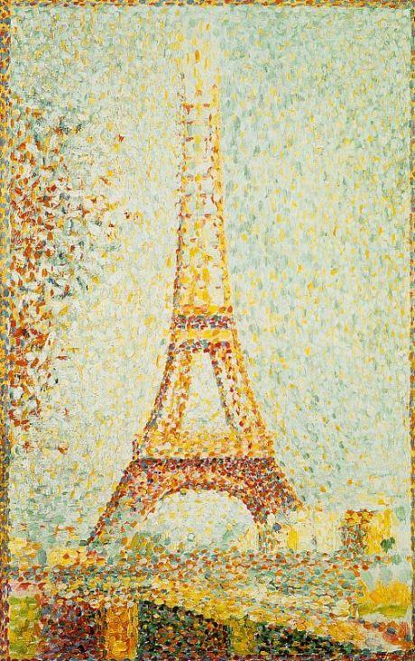 Georges Seurat Eiffel Tower Eiffel Tower 1889 by Seurat