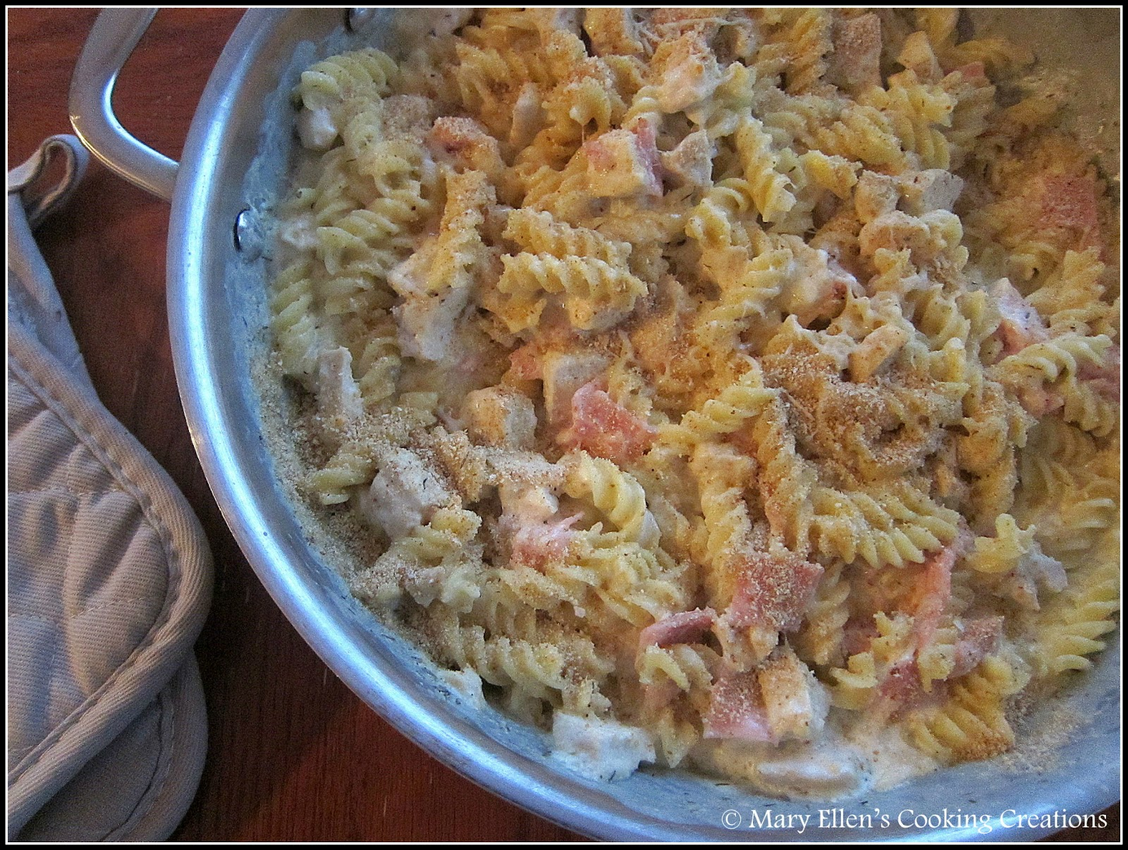 Mary Ellen's Cooking Creations: Chicken Cordon Bleu Pasta Bake