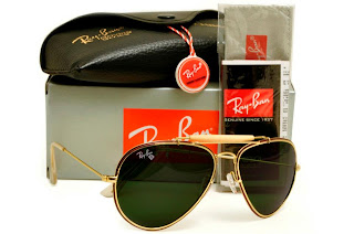 Rayban Diamond Hard Frame Gold Lens Dark Green G 15