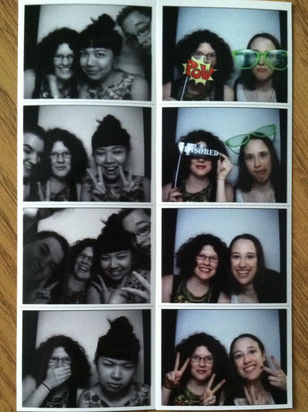 Monday Meetings & Farewells - photobooth | Pennies & Paper Blog