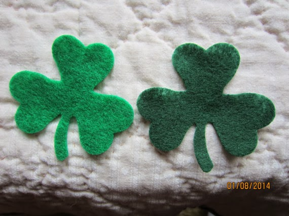 green felt shamrocks st patricks day by PearCreekCottage