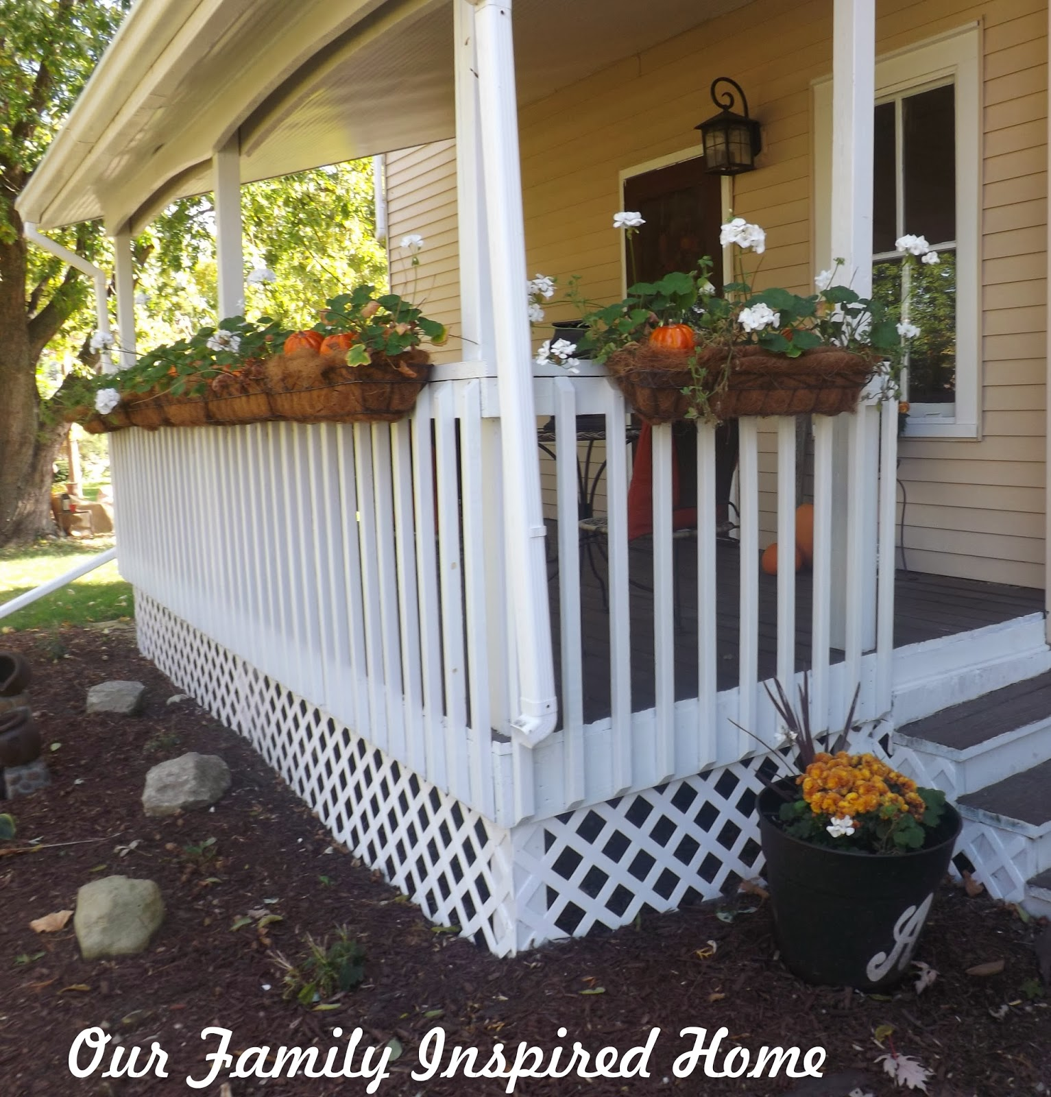 our family inspired home side porch autumn 2013