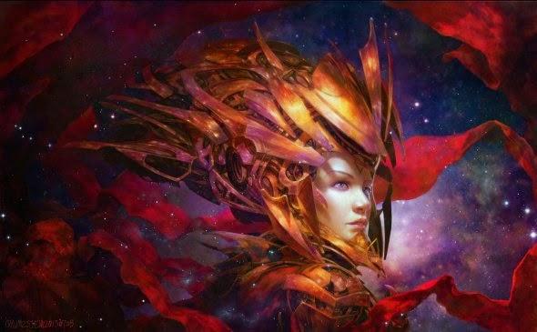Zezhou Chen deviantart ilustrações fantasia ficção científica traço oriental