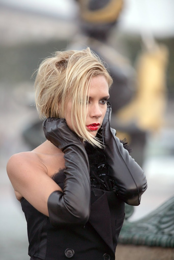 Victoria Beckham in leather gloves