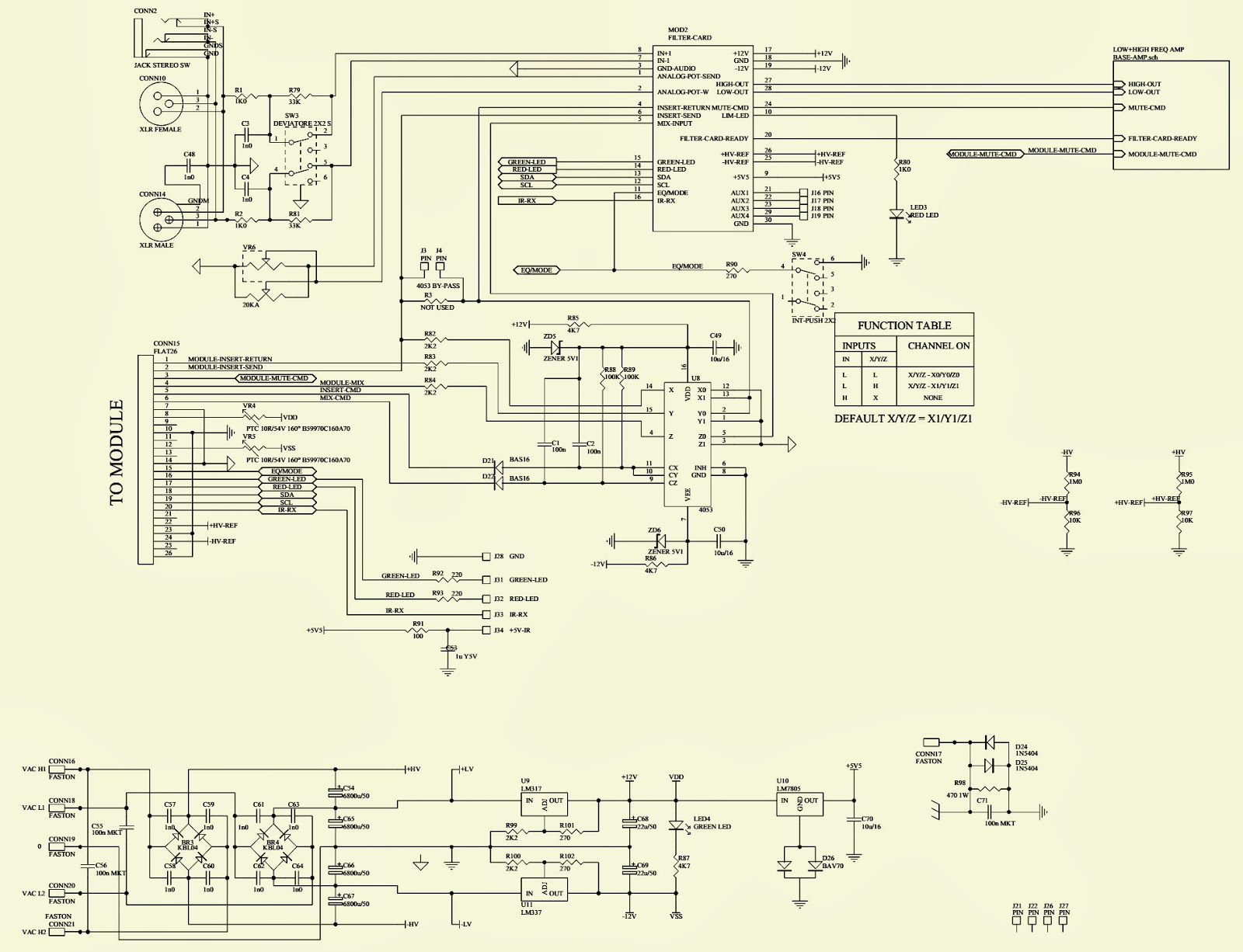 RCF ART-315A (BASS) - SCHEMATIC - [Circuit Diagram] | Electro help