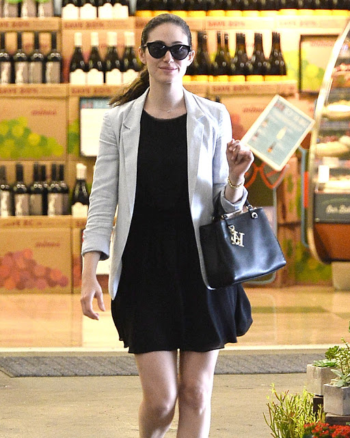 Actress, Singer @ Emmy Rossum - At Whole Foods in Beverly Hills