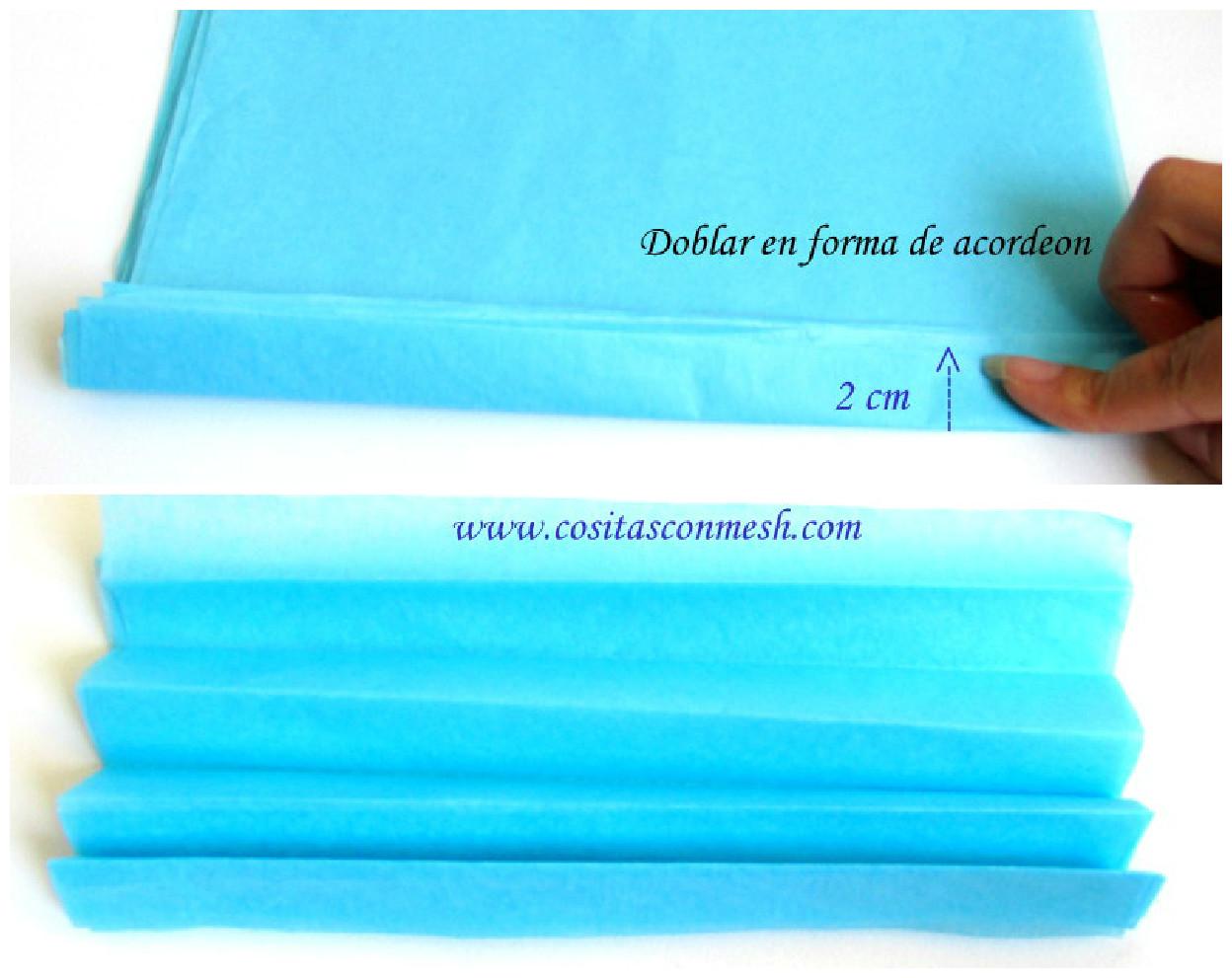 C mo hacer pompones de papel para decoraci n cositasconmesh - Pompones con papel de seda ...