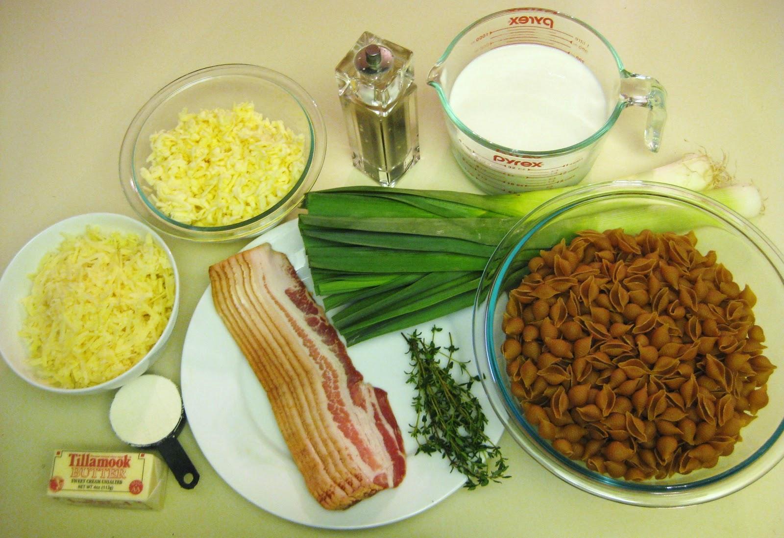 The Joyful Table: Macaroni and Cheese with Bacon, Leeks and Thyme