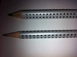 crayon picots écriture cursive