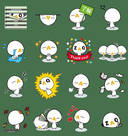 ZAQ stickers