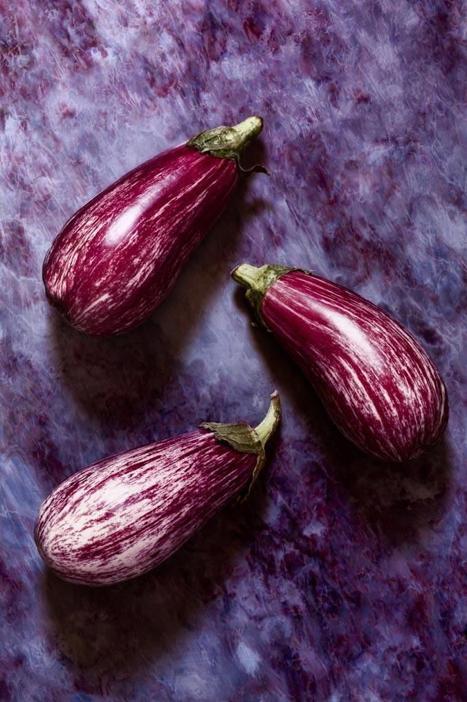 melanzane aubergines still life