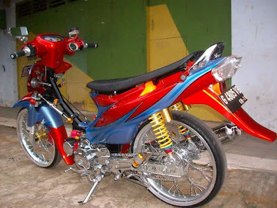 Suzuki Shogun Drag Race Modifikasi
