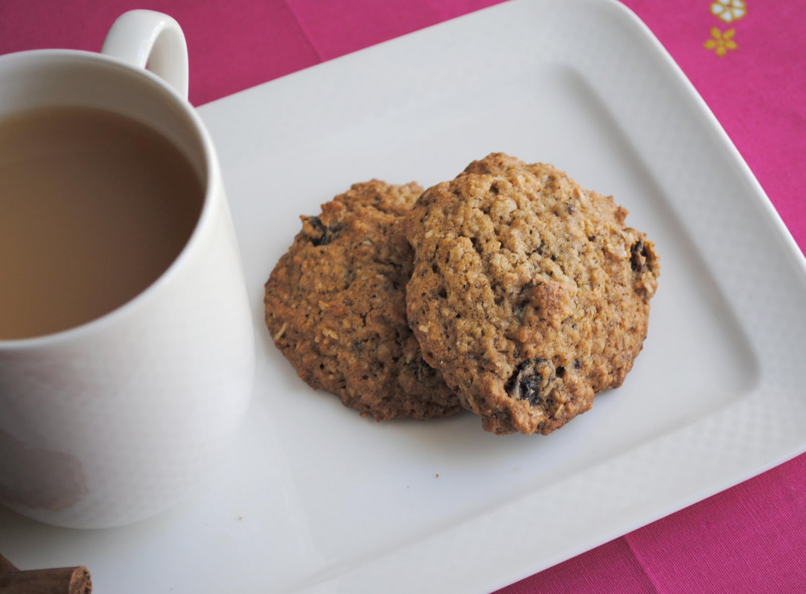 zakka life: Recipe: Chai Oatmeal Raisin Cookies