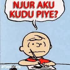 dp bbm bahasa jawanjur aku kudu piye dp bbm kata lucu bahasa jawa