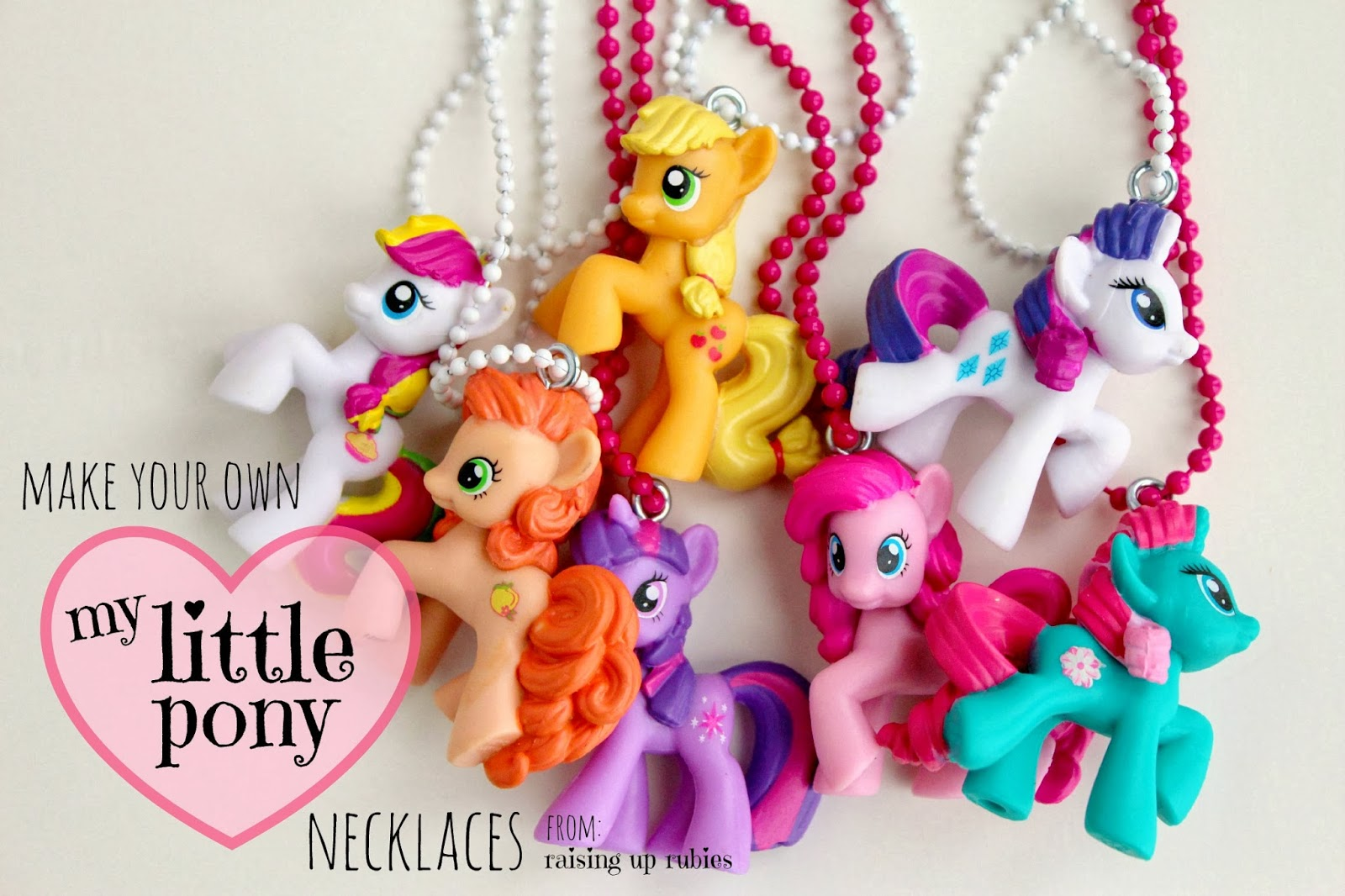 Diy my little pony necklaces raising up rubies bloglovin diy my little pony necklaces mozeypictures Images