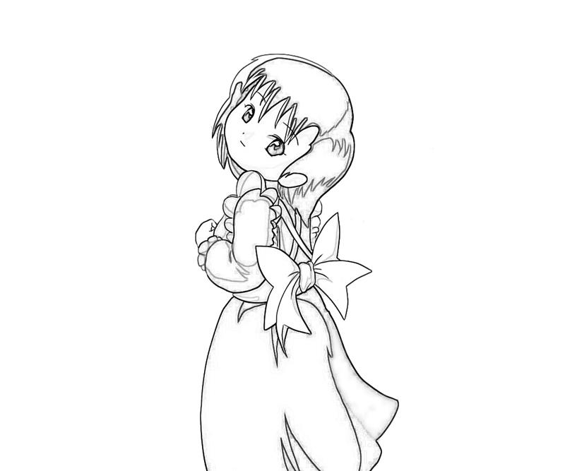 Harvest Moon Elli Action Coloring Pages