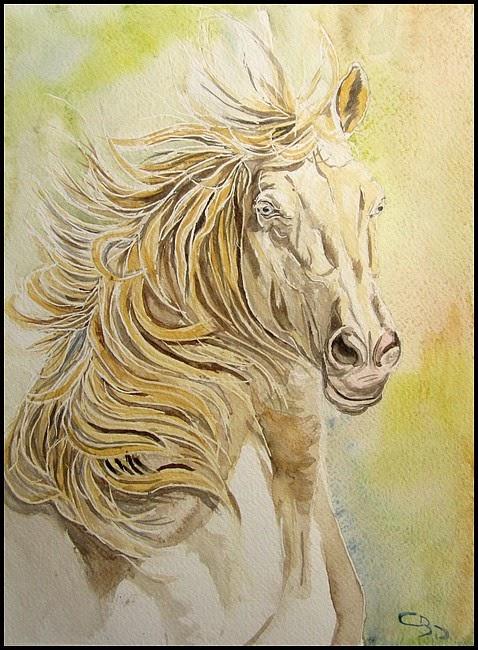 aquarelle cheval
