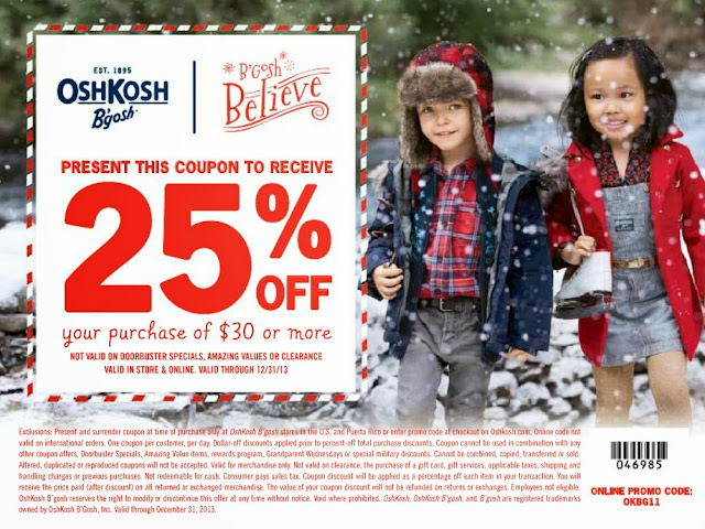 OskGosh Holiday Coupon Code #Sponsored