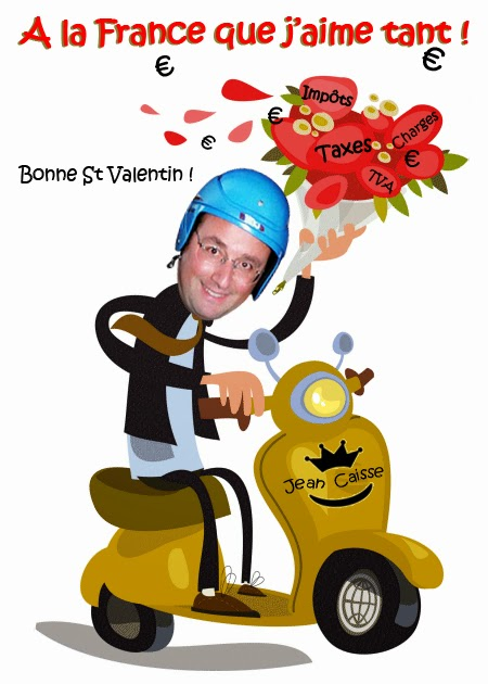 françois hollande sur son scooter