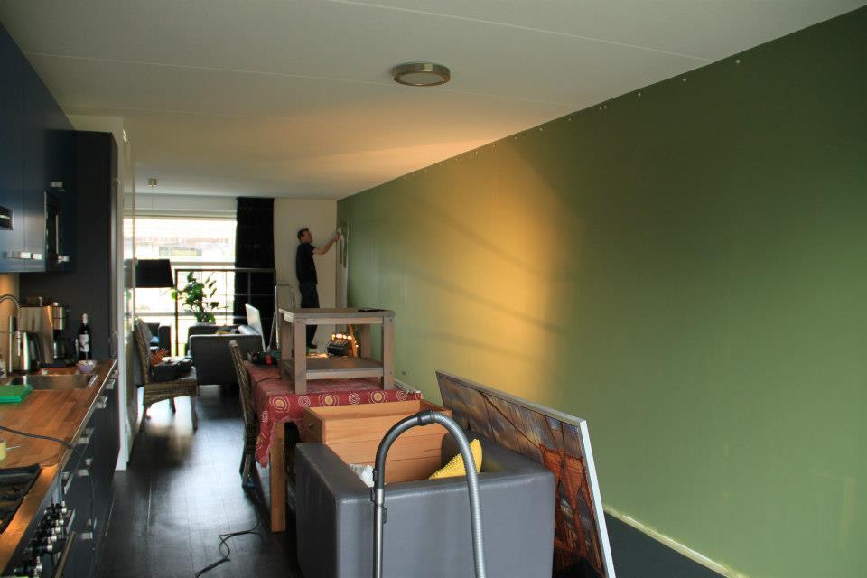 Groene Keuken Muur : Groene Keuken Muur : bijna 12 meter wand in de muurverf en zag de